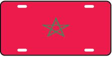 Morocco World Flag Auto Plate