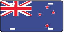 New Zealand World Flag Auto Plate