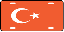 Turkey World Flag Auto Plate