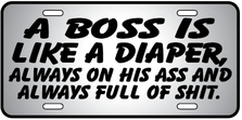 A Boss Is Diaper Auto Plate