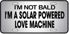Bald Solar Powered Auto Plate