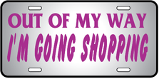 Going Shopping Auto Plate