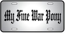 War Pony Auto Plate