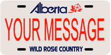 *Make Your Own* Alberta Prov Plate