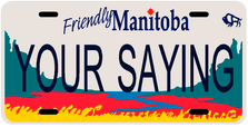 *Make Your Own* Manitoba Prov Plate