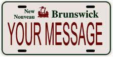 *Make Your Own* Newbrunswick Prov Plate