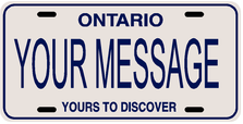 *Make Your Own* Ontario Prov Plate
