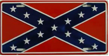 Confederate Flag License Plate SA1