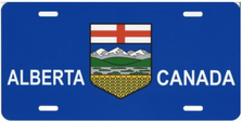 Alberta Canada Flag License Plate LPO1370
