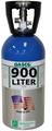 GASCO Calibration Gas 405 Mixture 25 PPM Hydrogen Sulfide, 2.5 % Methane (50 % LEL), Balance Air in a 900 Liter ecosmart Cylinder