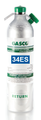 GASCO 34es-412: Calibration Gas Carbon Monoxide 50 PPM, Methane 50% LEL, Hydrogen Sulfide 25 PPM, Balance Air in a 34 Liter Factory Refillable ecosmart Cylinder