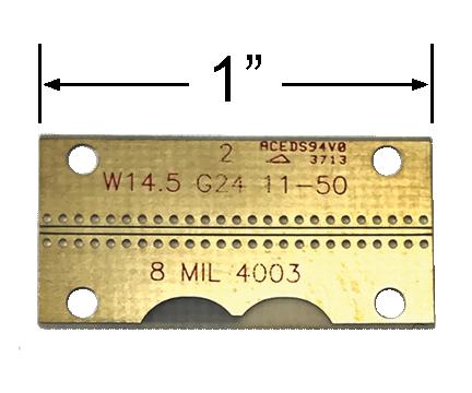 GCPWG RO4003 Test Board
