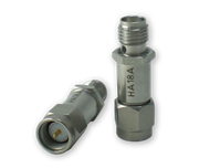 6 dB - Fixed Attenuator SMA Male To SMA Female Up To 18 GHz Rated To 2 Watts With Passivated Stainless Steel Body (HA18A-06)