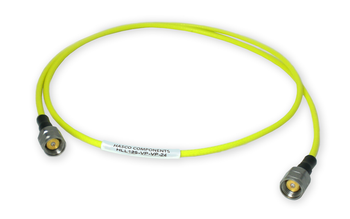 HLL125-VP-VP-24 Main view for 1.85 mm Male to 1.85 mm Male Test Cable using HLL125 Low Loss Flexible Cable, Phase Stable vs. Flexure, 24 Inches - HASCO Components