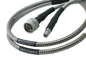 HLL142A-S1-NP-24 Main view for SMA Male to N Male Test Cable using HLL142A Low Loss Flexible Armored Cable, Phase Stable vs. Temperature, 24 Inches - HASCO Components