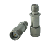 Image - 10 dB - Fixed Attenuator SMA Male To SMA Female Up To 26 GHz Rated To 2 Watts With Passivated Stainless Steel Body (HA26A-10)