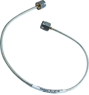 SMA Male to SMA Male .085 Tin-Braid Conformable Cable using RG405 Coax, 12 Inches