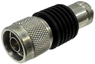 HA18N5W-08 Main view for 8 dB - Fixed Attenuator N Male To N Female Up To 18 GHz Rated To 5 Watts With Black Aluminum Heatsink Body
