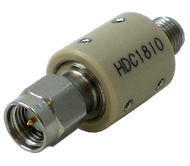 HDC18IO Main view for DC Blocks | Inner | SMA Male to SMA Female |10 MHz to 18 GHz | HASCO Components