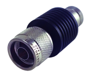 HA18N10W-01 Main view for 1 dB - Fixed Attenuator N Male To N Female Up To 18 GHz Rated To 10 Watts With Black Aluminum Heatsink Body