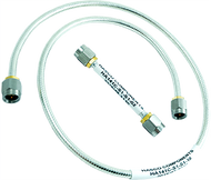 SMA Male to SMA Male .141 Tin-Braid Conformable Cable using RG402 Coax, 2 Inches