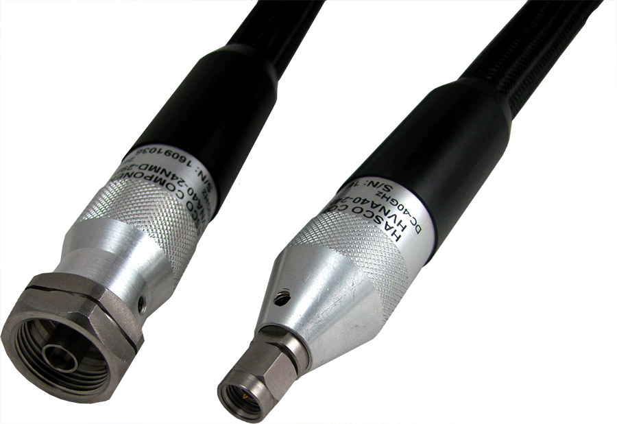 2.4mm NMD Female to 2.92mm Male Precision VNA Test Cable, Low Loss, Phase Stable vs. Flexure, 24 Inches