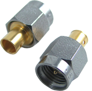 2270-05G Main view for Southwest Microwave SMA Male Cable Connector, Direct Solder Flange for .141LL Cable, tested to 27 GHz