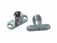 """Main Image - 2.92mm Female Connector 2 Hole .625"""" Long Flange - Accepts .012 Pin Dia.   DC to 40 GHz"""