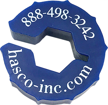 SMA, 3.5mm 2.92mm, 2.4mm, 1.85mm Connector - Finger Thumb Wrench Blue (HTW-516-BL)