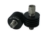 HA18A5W-12 Main view for 12 dB - Fixed Attenuator SMA Male To SMA Female Up To 18 GHz Rated To 5 Watts With Black Aluminum Heat Sink Body