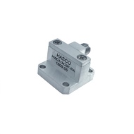 Image:  WR-34 to 2.92mm Female Waveguide to Coax Adapter, Right Angle Design, 22 GHz to 34 GHz, WR34F Flange (HWCA-3429F-RA)