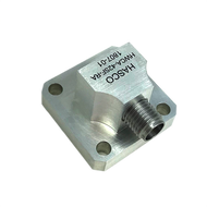 WR-42 to SMA Female Waveguide to Coax Adapter, Right Angle Design, 18 GHz to 26.5 GHz, UG597/U Flange (HWCA-42SF-RA)_Image1