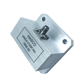Image - WR-112 to SMA Female Waveguide to Coax Adapter, Right Angle Design, 7.05 GHz to 10 GHz, UG138\U Flange (HWCA-112SF-RA)
