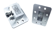 Image_WR-159 to Type N Female  to WR 159 Waveguide to Coax Adapter, Right Angle Design, 4.9 GHz to 7.05 GHz, CPR159F Flange