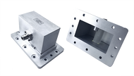 Image UG437F Flange   WR-430 to Type N Female Waveguide to Coax Adapter Right Angle  1.7 GHz to 2.6 GHz