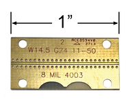 "B4003-8C-50 main view for Southwest Microwave .008"" RO4003, GCPWG Test Board up to 50 GHz"