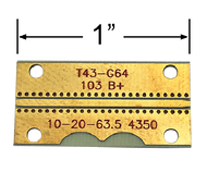 """B4350-30C-27 main view for Southwest Microwave .030"""" RO4350, GCPWG Test Board up to 27 GHz"""