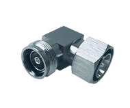 Image 1 - 4.3-10 Male to 4.3-10 Female Right Angle In-Series Low PIM RF adapter, -165 dBc PIM Level from DC - 6 GHz, HASCO Components Part Number - 4310P-4310J-RA-SLP