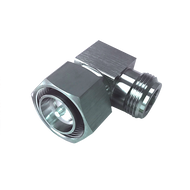Image- 4.3-10 Male to N Female Right Angle Low PIM Adapter - 160 dBc - 4310P-NJ-RA-SLP