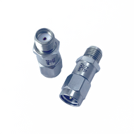 HA6A2-09 - Main Image, 9 dB - Fixed Attenuator SMA Male To SMA Female Up To 6 GHz Rated To 2 Watts With Round Hex Passivated Stainless Steel Body-HASCO Components