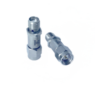 HA6A2-30 - Main Image, 30 dB - Fixed Attenuator SMA Male To SMA Female Up To 6 GHz Rated To 2 Watts With Round Hex Passivated Stainless Steel Body-HASCO Components