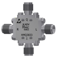 Main Image - HMQ3833 - K-Band IQ Mixer IQ Modulator/Demodulator SMA Female, 18 GHz to 32 GHz with IF Range of DC to 3 GHz, LO Power +15dBm to +19dBm