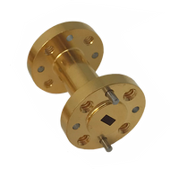 Main Image - WR-10 Millimeter Waveguide Section, 1 Inch Length, W Band, 75 GHz to 110 GHz