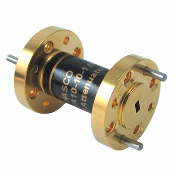 Main Image - 10 dB WR-10 Fixed W Band Millimeter Waveguide Attenuator, Operating from 75 GHz to 110 GHz, 0.3 Watts, HWFA10-10-1.0