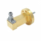 Second image - WR-15 to 1.0mm Female Waveguide to Coax Adapter, Right Angle Design, 50 GHz to 75 GHz, UG385/U Flange