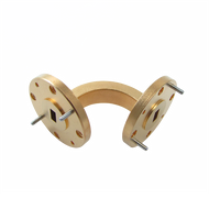 Main Image - WR-15 Millimeter Waveguide E-Bend, 1-Inch Section, 50 GHz to 75 GHz, V-Band
