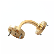 Main Image - WR-5 Millimeter Waveguide E-Bend, 2-Inch Section, 140 GHz to 220 GHz, G-Band