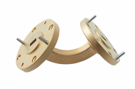 Main Image - WR-15 Millimeter Waveguide H-Bend, 2-Inch Section, 50 GHz to 75 GHz, V-Band