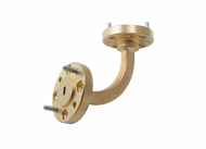Main Image - WR-10 Millimeter Waveguide H-Bend, 2-Inch Section, 75 GHz to 110 GHz, W-Band