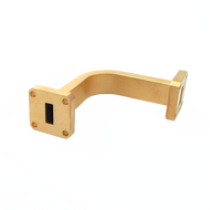 Main Image - WR-28 Millimeter Waveguide E-Bend, 2-Inch Section, 26.5 GHz to 40 GHz